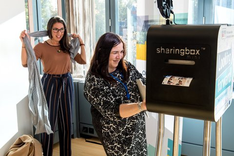 Don't forget to take your photo at our sharingbox and get a printout immediately! Find us on the 5th floor, next to Atrium 5